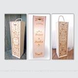 Svadobné laserom gravírované drevené obaly